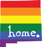 New Mexico gay pride vector state sign Stock Photo