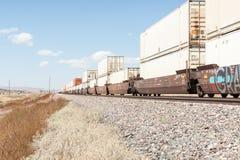 New Mexico high plains landscapes alongside Route 66. Stock Photos