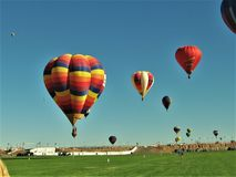 New Mexico hot Air balloon launch fill flame fire festival royalty free stock photography