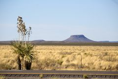 New Mexico - Interstate 10. New Mexico - the Interstate 10 from arizona to El Paso royalty free stock image