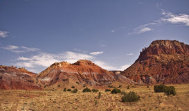 New Mexico Landscape. The desert landscape of Northern New Mexico near Abiquiu and Ghost Ranch stock image