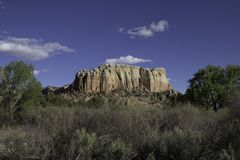 New Mexico landscape. Landscape at ghost ranch in New Mexico on a sunny day Royalty Free Stock Image