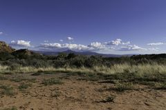 New Mexico landscape on a sunny day. Landscape at ghost ranch in New Mexico on a sunny day Stock Image