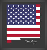 New Mexico map with American national flag illustration Royalty Free Stock Images