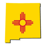 New Mexico Map flag illustration royalty free illustration