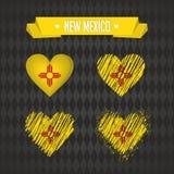 New Mexico met liefde Ontwerpvector gebroken hart met binnen vlag vector illustratie
