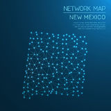 New Mexico network map. Stock Photo