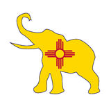 New Mexico Republican Elephant Flag Royalty Free Stock Photography