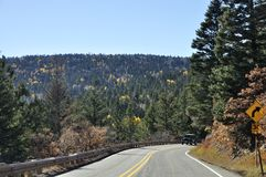 New Mexico road in fall Royalty Free Stock Photos