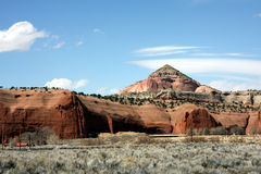 New Mexico rock. Red sandstone rock formations in New Mexico stock photos