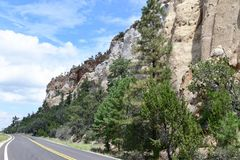 New Mexico, Sandstone Cliffs in El Malpais National Conservation Area: The Narrows royalty free stock photography