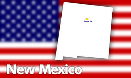 New Mexico state contour Royalty Free Stock Photo