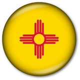New Mexico State Flag Button. Glassy Web Button with the flag of the state of New Mexico, USA