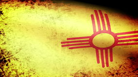 New Mexico State Flag Waving, grunge look. New Mexico State Flag Waving grunge look, video footage stock video