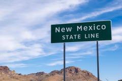 New Mexico state line sign on Arizona border. New Mexico state line on the Arizona border Stock Photography