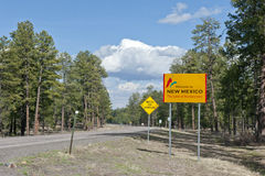 New Mexico state line sign Royalty Free Stock Photos