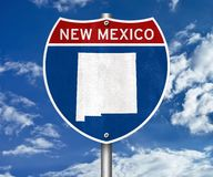 New Mexico state map. Road sign royalty free stock photo