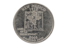 New Mexico State Quarter Coin Stock Images