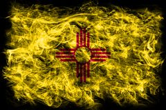 New Mexico state smoke flag, United States Of America Royalty Free Stock Photos