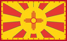 New Mexico state sun rays banner Stock Photography