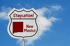 New Mexico Staycation Highway Sign royalty free stock photo