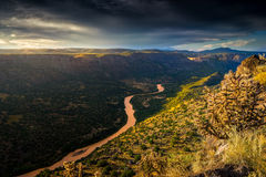 New Mexico Sunrise Over the Rio Grande River Royalty Free Stock Photography