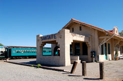 New Mexico Train Station. View of old Santa Fe train station Royalty Free Stock Photos