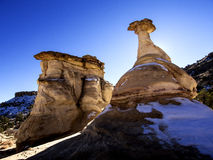 New Mexico Unique Rock Formations. Bisti Badlands of New Mexico, USA Royalty Free Stock Images