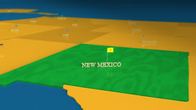 New Mexico - United States Series with flags Royalty Free Stock Photo