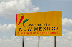 New Mexico Welcome Sign Royalty Free Stock Photos