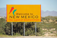 New Mexico welcome sign  Stock Image