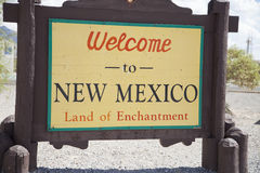 New Mexico Welcome Sign Stock Photos