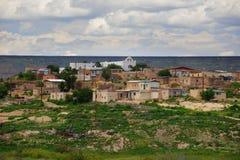 New Mexiko lanscape mit Häusern Lizenzfreies Stockbild