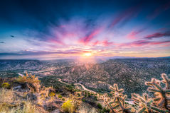 New Mexiko-Sonnenaufgang über Rio Grande River Stockfotografie