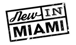 New In Miami rubber stamp Royalty Free Stock Photo