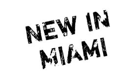 New In Miami rubber stamp Royalty Free Stock Photography
