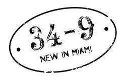 New In Miami rubber stamp Stock Photos