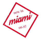 New In Miami rubber stamp Stock Photo