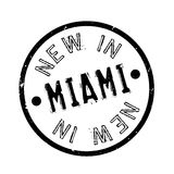 New In Miami rubber stamp Stock Image