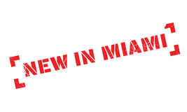 New In Miami rubber stamp Royalty Free Stock Images