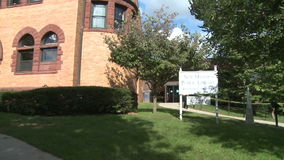 New Milford Public Library (3 of 3) stock video