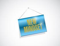 New mindset banner sign illustration design Royalty Free Stock Photos