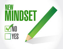 New mindset check list illustration Royalty Free Stock Image