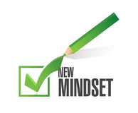 New mindset check mark pencil illustration Stock Images