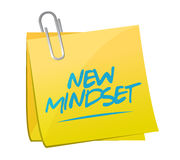 New mindset memo post illustration Royalty Free Stock Photos
