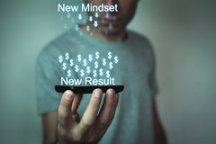 New mindset-New result. Business concept Royalty Free Stock Images