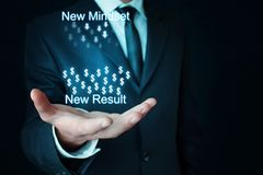 New mindset-New result. Business concept Stock Photos