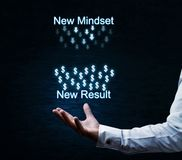 New mindset-New result. Business concept Royalty Free Stock Image