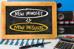 New mindset new results concept Stock Image