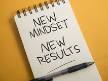 Self Development Motivational Words Quotes Concept, New Mindset Result. New mindset new results words letter, motivational self development business typography stock image